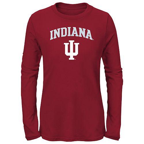 Girls 7-16 Indiana Hoosiers Goal Line Shirt