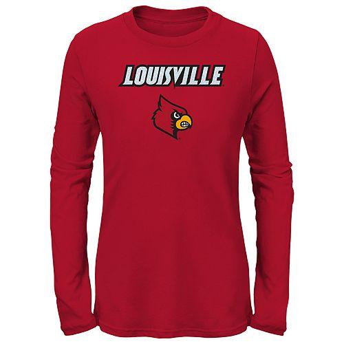 Girls 7-16 Louisville Cardinals Goal Line Shirt