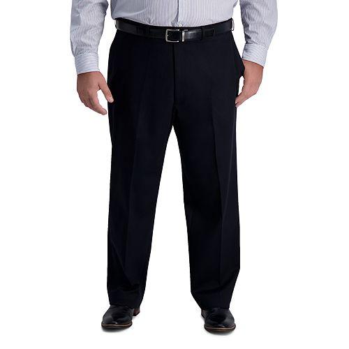 Big & Tall Haggar® Iron Free Classic-Fit Flat-Front Pants