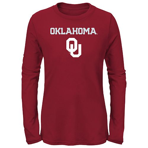 Girls 7-16 Oklahoma Sooners Goal Line Shirt