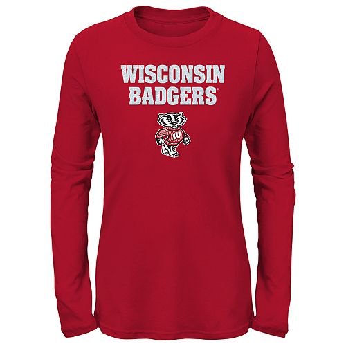 Girls 7-16 Wisconsin Badgers Goal Line Shirt