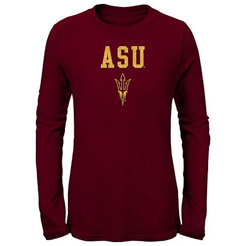 Girls 7-16 Arizona State Sun Devils Goal Line Shirt