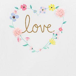 Girls 4-12 Carter's Floral Heart Top