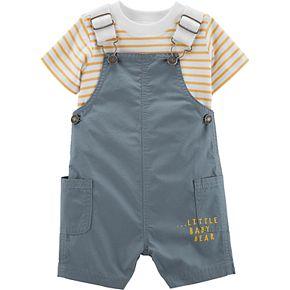 Baby Boy Carter's 2-Piece Striped Tee & Shortalls Set