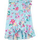 Girls 4-12 Carter's Floral Ruffle Wrap Skirt