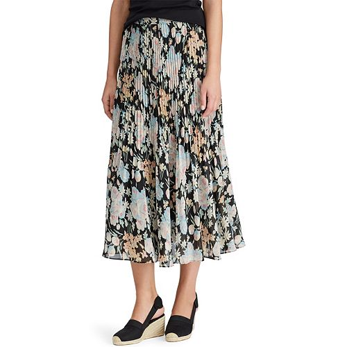 Women's Chaps Floral Georgette Midi Skirt