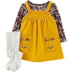 Baby Girl Carter's 3-Piece Floral Tee & Jumper Set