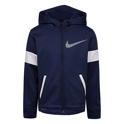 Boys 4-7 Nike Therma Fleece Colorblock Full Zip Hoodie