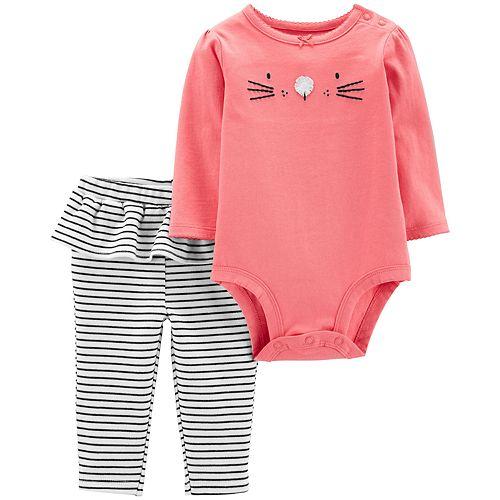 Baby Girl Carter's 2-Piece Bunny Bodysuit Pant Set
