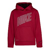 Deals on Nike Boys 4-7 Therma Fleece Mesh Pullover Hoodie