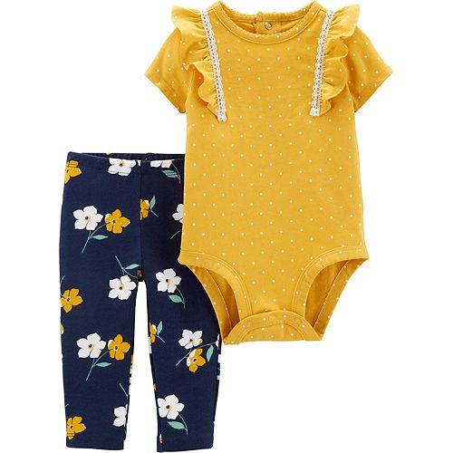Baby Girl Carter's 2-Piece Polka Dot Bodysuit & Pants Set