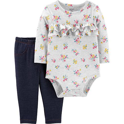 Baby Girl Carter's 2-Piece Floral Bodysuit & Pants Set