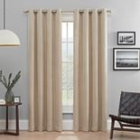 eclipse 2-Pack Absolute Zero 100% Blackout Heath Window Curtains