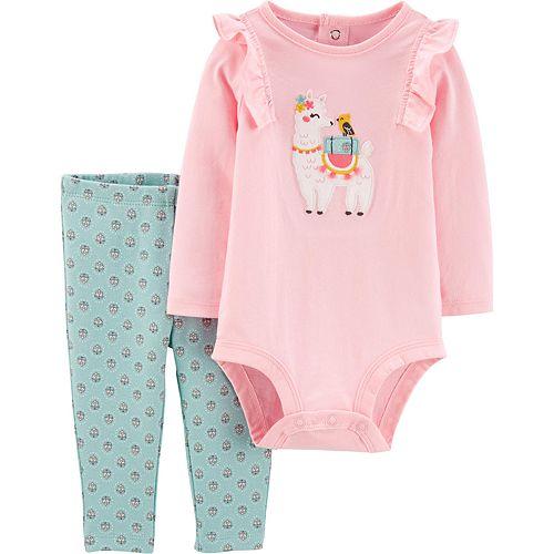 Baby Girl Carter's 2-Piece Llama Bodysuit & Pants Set