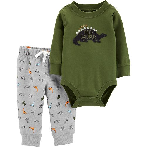 Baby Boy Carter's 2-Piece Dinosaur Bodysuit & Pants Set
