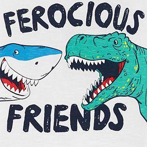 """Toddler Boy Carter's """"Ferocious Friends"""" Dinosaur & Shark Graphic Tee"""