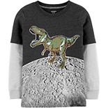 Boys 4-14 Carter's Dino On The Moon Layered-Look Tee