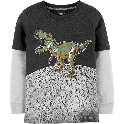Boys 4-14 Carter's Dino On The Moon Layered-Look Tee