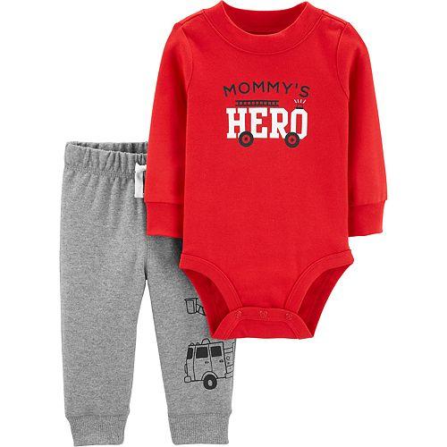 Baby Boy Carter's 2-Piece Firetruck Bodysuit & Pants Set
