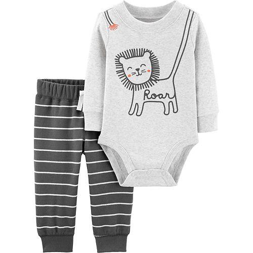 Boys Carter's 2-Piece Lion Bodysuit & Pants Set