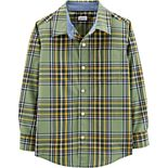 Boys 4-14 Carter's Green Plaid Button-Down