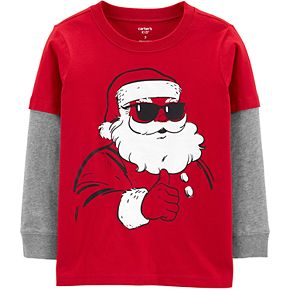 Boys 4-14 Carter's Santa Shades Layered Tee