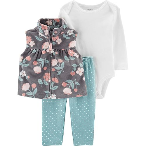 Baby Girl Carter's 3-Piece Floral Little Vest Set