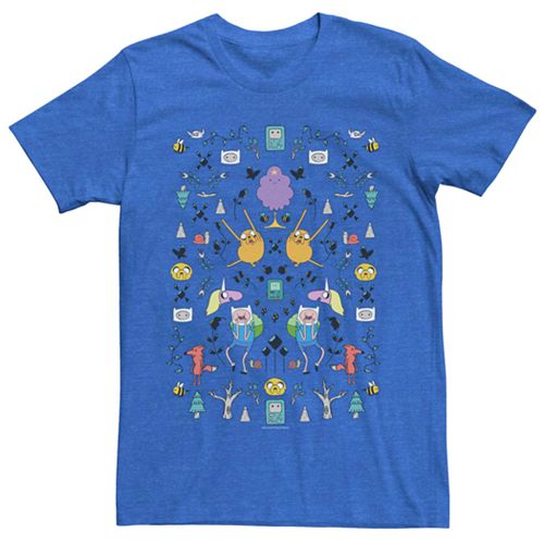 Men's Cartoon Network Adventure Time Characters Pattern Tee