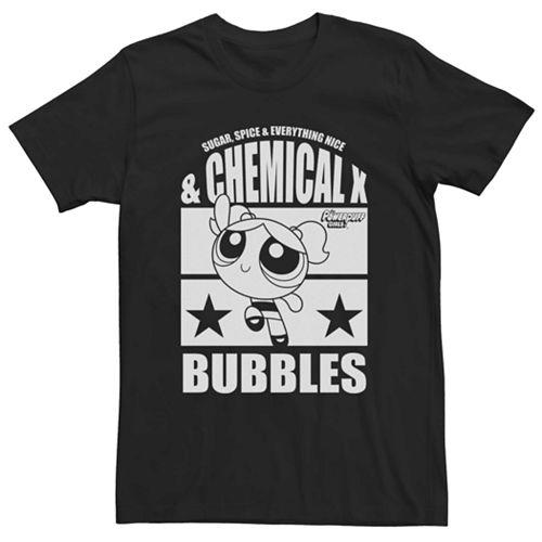 Men's Cartoon Network Power Puff Girls Bubbles Star Tee