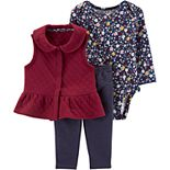 Baby Girl Carter's 3-Piece Quilted Little Vets Set