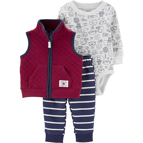 Baby Boy Carter's 3-Piece Sports Little Vest Set