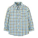 Toddler Boy Carter's Plaid Button-Front Poplin Shirt