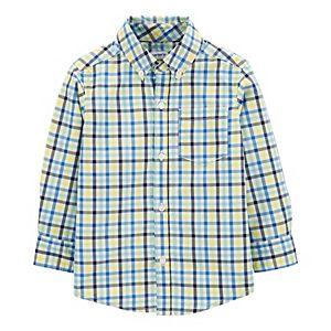 Toddler Boy Carter's Plaid Button-Front Poplin Shirt