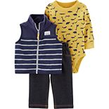 Baby Boy Carter's 3-Piece Animal Little Vest Set