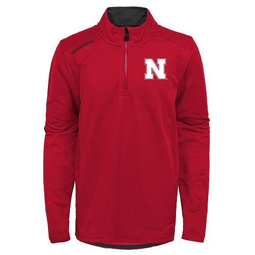 Boys 8-20 Nebraska Cornhuskers Quarter-zip Pullover
