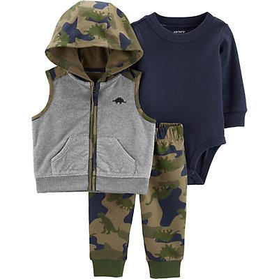 Baby Boy Carter's 3-Piece Camo Little Vest Set