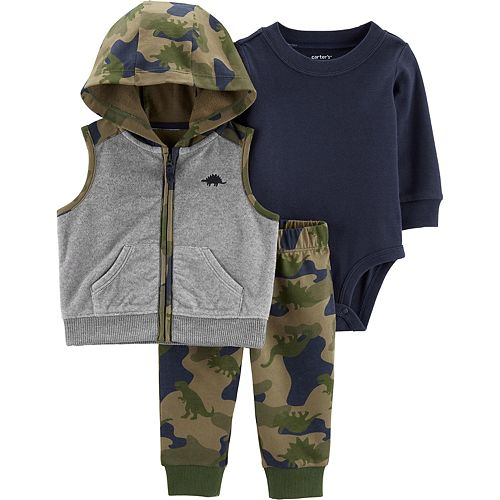 Baby Boy Carter's 3-Piece Camo Little Vest Set