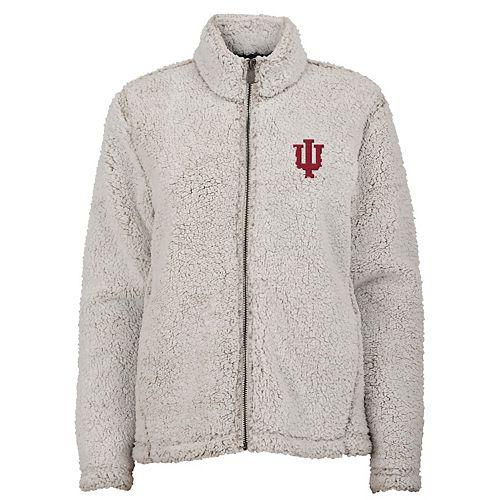 Juniors' Indiana Hoosiers Sherpa Jacket