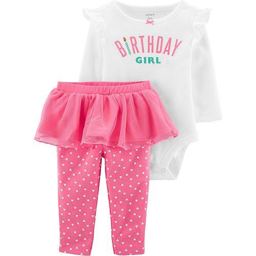 Baby Girl Carter's 2-Piece Birthday Girl Bodysuit & Tutu Pant Set