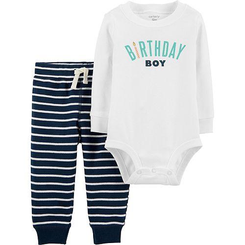Baby Boy Carter's 2-Piece Birthday Boy Bodysuit Pant Set