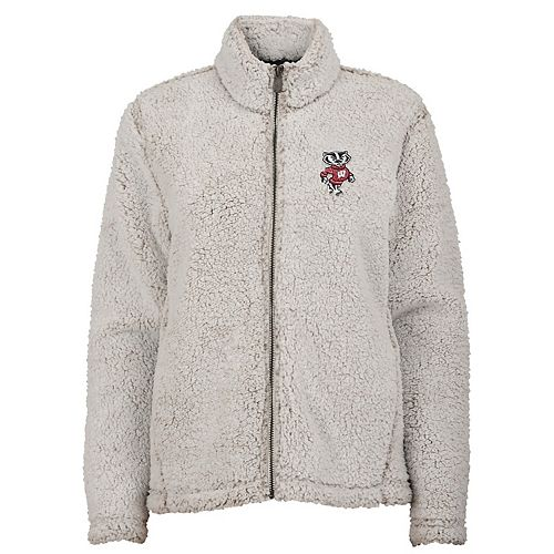 Juniors' Wisconsin Badgers Sherpa Jacket