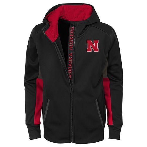 Boys 8-20 Nebraska Cornhuskers Full-Zip Fleece Hoodie