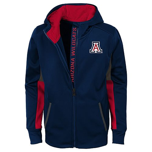 Boys 8-20 Arizona Wildcats Full-Zip Fleece Hoodie