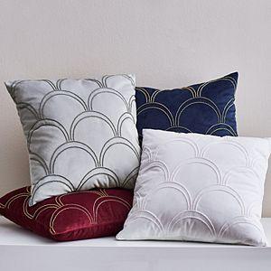 Scott Living Beaded Fan Decorative Pillow