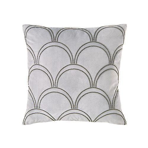 Scott Living Beaded Fan Decorative Pillow