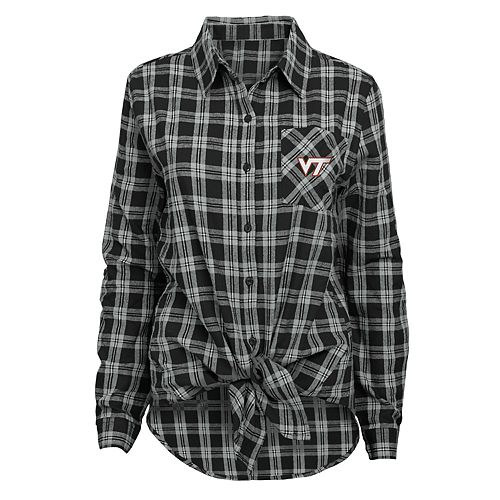 Juniors' Virginia Tech Hokies Action Plaid Shirt