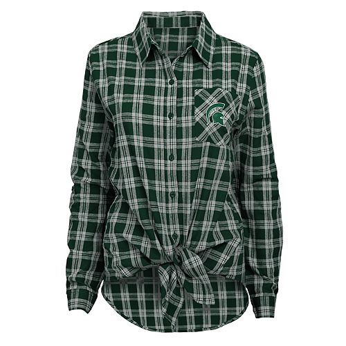 Women's Michigan State Spartans Action Plaid Shirt
