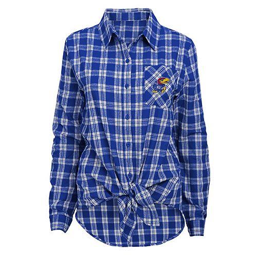 Women's Kansas Jayhawks Action Plaid Shirt