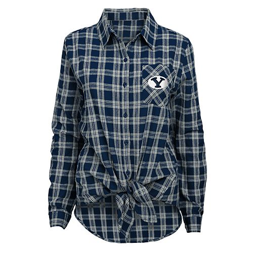 Juniors' BYU Cougars Action Plaid Shirt