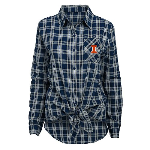 Juniors' Illinois Fighting Illini Action Plaid Shirt